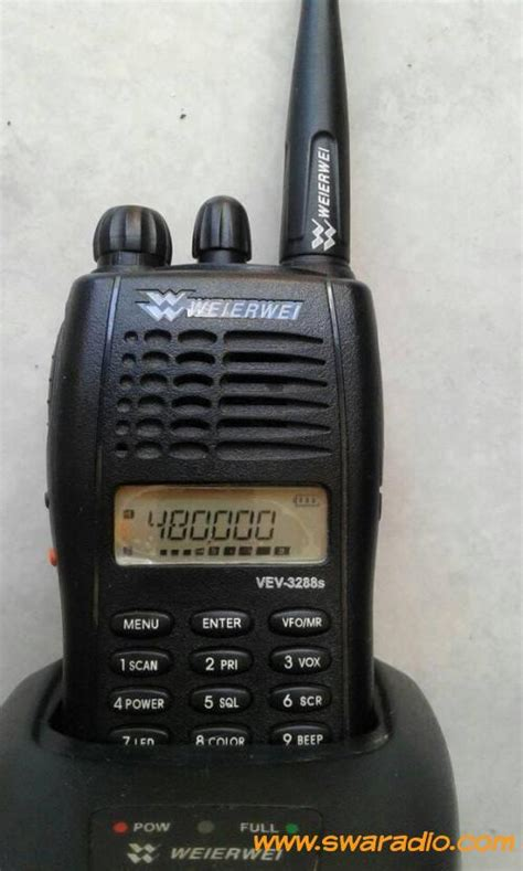 Jual Charger Weierwei 3288 Asli Baru Radio Komunikasi Elektronik T dijual ht werwei vev 3288 frekuensi uhf 400 480mhz rx tx normal swaradio