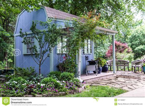 building a backyard garden backyard landscaping garden shed stock photo image 41746907