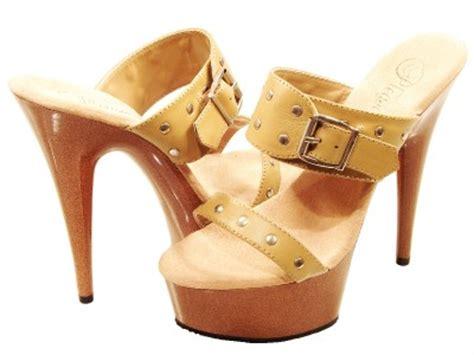 Tang Rivet Camel pleaser shoes delight 602 9 camel wood cork look high