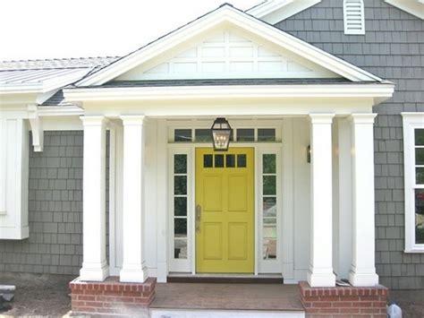 gray house yellow door front door dilemma elements of style blog