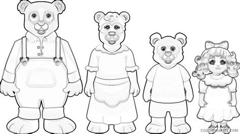 printable coloring pages for goldilocks and the three bears three bears coloring pictures to pin on pinterest pinsdaddy