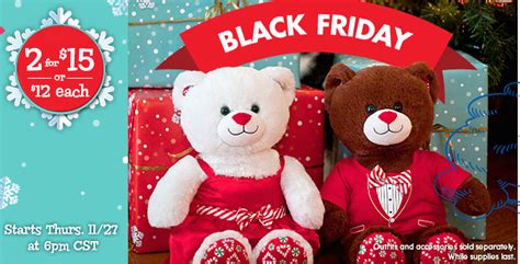 Where Can You Buy Build A Bear Gift Cards - build a bear black friday deal theme bears 2 for 15 southern savers