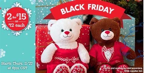 Where Can I Buy A Build A Bear Gift Card - build a bear black friday deal theme bears 2 for 15 southern savers