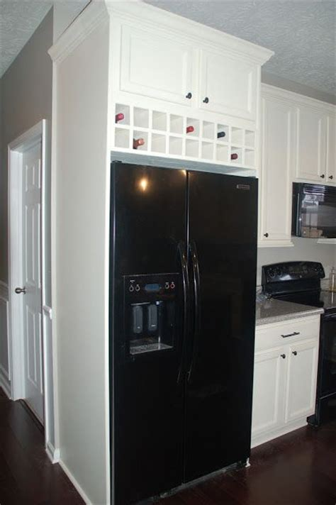 cabinet above fridge diy wine rack cabinet insert grows here built in refrigerator overhead wall cabinet