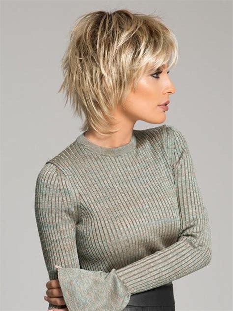 short crown layered shag long haircut play wig by ellen wille short choppy wigs com the