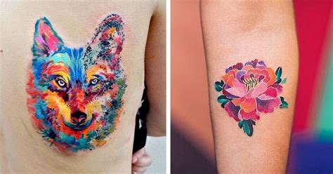 artistic tattoos watercolor tattoos that beautifully transform skin into a
