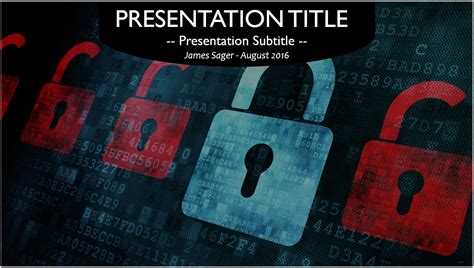 Computer Security PowerPoint Template #10575, Free