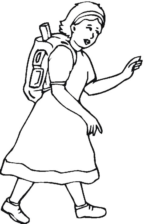 pictures girl coloring schoolgirl school girl coloring pages freecoloring4u com