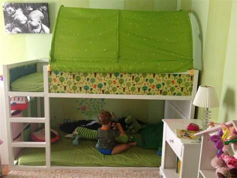 kura hack ideas ikea kura bed hack blue or green tent on top toy reading