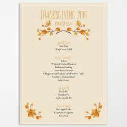 thanksgiving template word editable thanksgiving menu ama vita designs
