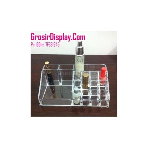 display tempat aksesoris make up kosmetik lipstik kutek akrilik grosir display