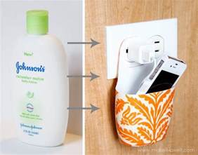 Hanging Charging Station 16 diy to reuse plastic bottles a piece of rainbow