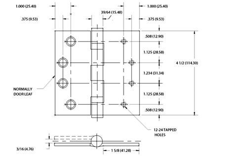 standard door hinge size 4 1 2 x 4 slip in hinge bommer bb5050 454g1 652