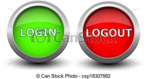 design home logout vector of buttons login and logout on white bakground