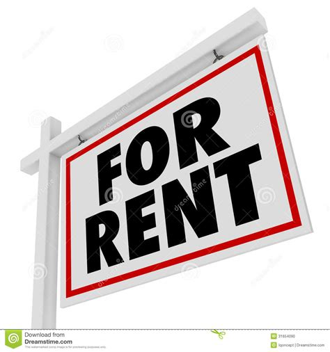 temporary house rental for rent real estate home rental house sign stock photo image 31654090