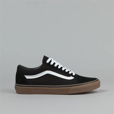 Vans Skool Blackl White Jual Vans Oldskool vans skool shoes gumsole black medium gum flatspot