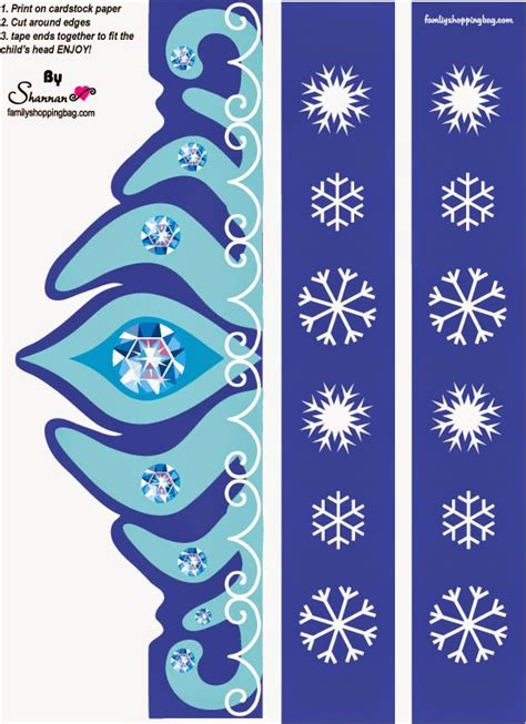 printable frozen crown template frozen free printable elsa 180 s crown oh my fiesta in