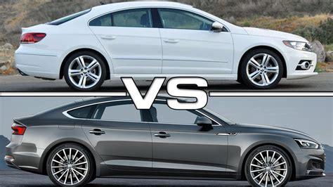 volkswagen audi volkswagen cc vs audi a5 sportback