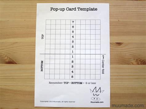 pop card template an easy pop up card template muumade