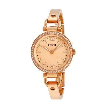 Jam Tangan Wanita Fossil Am4141 Glitz Stainless jual fossil glitz es3226 jam tangan wanita gold harga kualitas