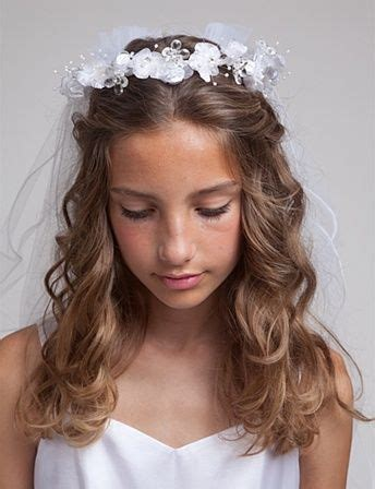 first communion hair dos first communion hair i like the wavy half up do first