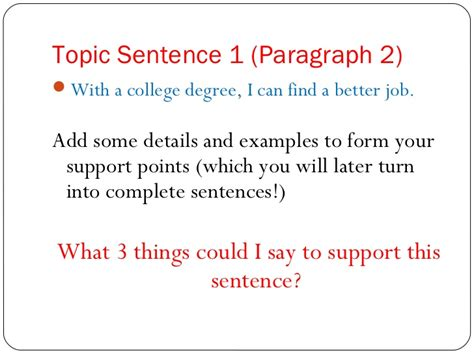 Exles Of Topic Sentences For Essays by Essay Topic Sentence Exles