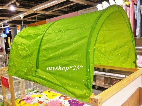 kura bed tent ikea kura baby kids children bed canopy tent green white