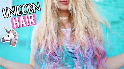 unicorn hair color diy unicorn hair dying my hair unicorn colors tutorial