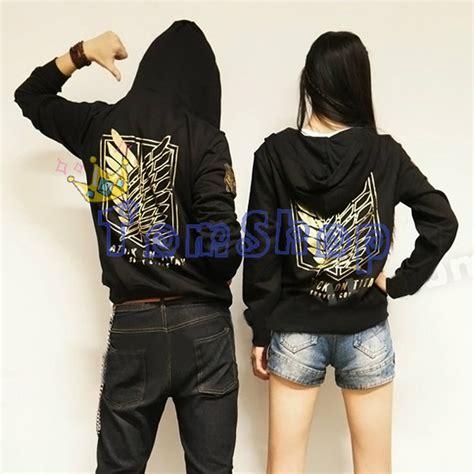 Jaket Shingeki No Kyojin New Stylle Jacket shingeki no kyojin attack on titan hooded jacket coat fashion gold logo unisex hoodie