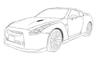 gtr coloring pages nissan gtr r35 sketch by xrasnovax on deviantart