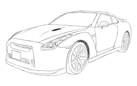 nissan skyline drawing images of nissan skyline gtr free coloring pages