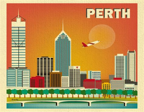 wall stickers perth perth australia skyline 11 x 14 poster wall city for homes gifts and nursery style