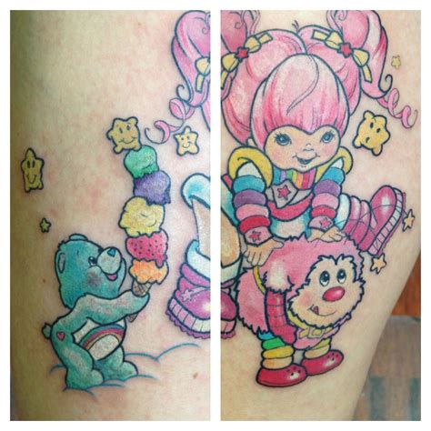 rainbow brite tattoo rainbow brite and carebears so ima rock these