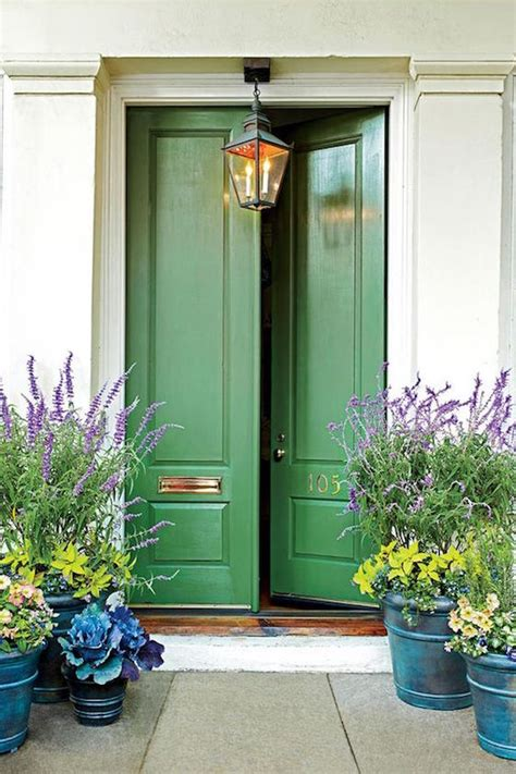 Green Exterior Door Welcoming Painted Front Doors Omg Lifestyle