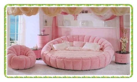 round queen bed fashion velver bed pink princess round bed queen bed hot