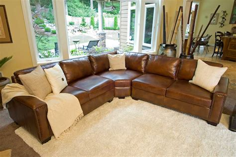 rustic leather sectional sofa elements fine home furnishings carlyle top grain leather