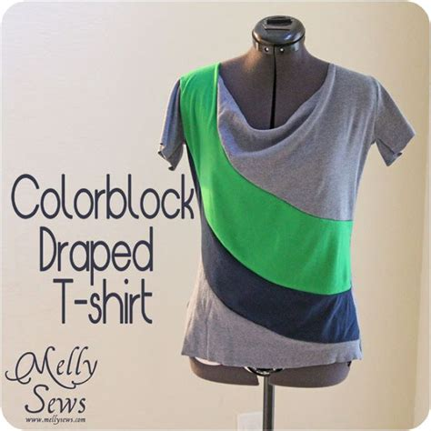 draped shirt pattern draped colorblock t shirt with free pattern patterns