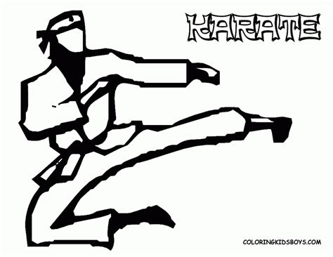 coloring pages karate printable karate pictures for kids coloring home