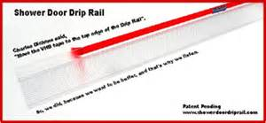 Shower Door Drip Guard Shower Door Drip Rail Photo Showing Partly Peeled 3m Vhb Liner From Transparent Adhesive W