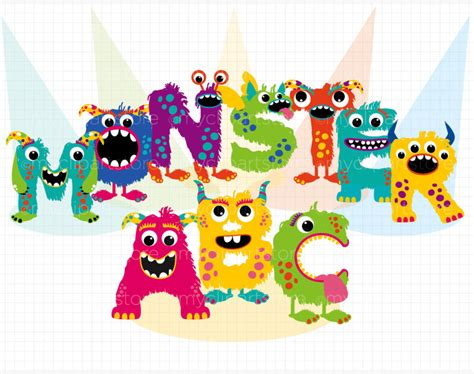 free printable monster alphabet letters letter clipart monster pencil and in color letter