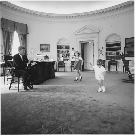 kennedy oval office file kennedy children visit the oval office president