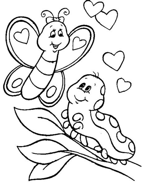 caterpillar and butterfly 2 coloring page supercoloring com animal coloring pages pictures caterpillar coloring