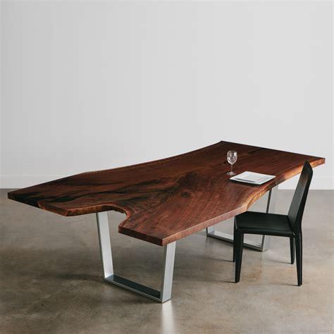 walnut dining table elko hardwoods modern live edge