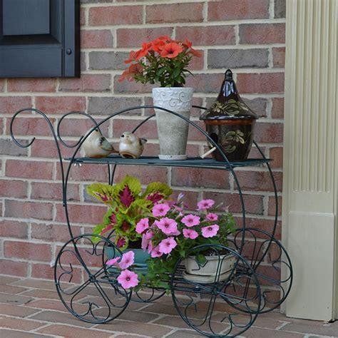 plant patio stand flower garden  tiered cart indoor