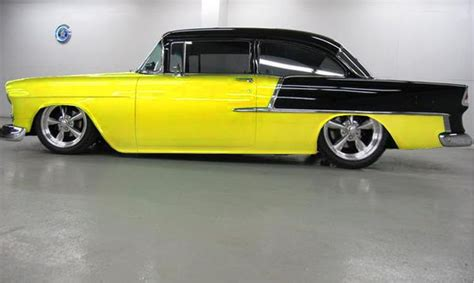 Wheels Chevy55 Black Dove 55 chevy two tone i like everything but the rear wheel 55 chevy cars