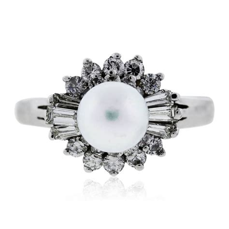 14k white gold and pearl ring boca raton