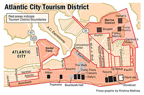 atlantic city map state defines boundaries for atlantic city tourism district langford casts lone no vote
