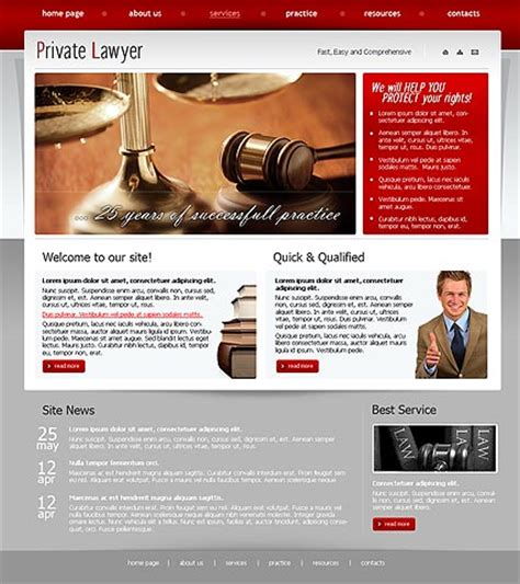 Private Lawyer Html Template Lawyer Web Templates