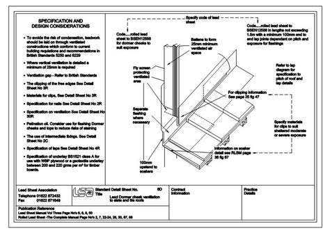 Dormer Roof Detail Fastrackcad Lead Sheet Association Cad Details