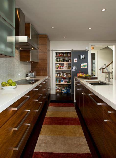 brilliant modern galley kitchen contemporary kitchen home